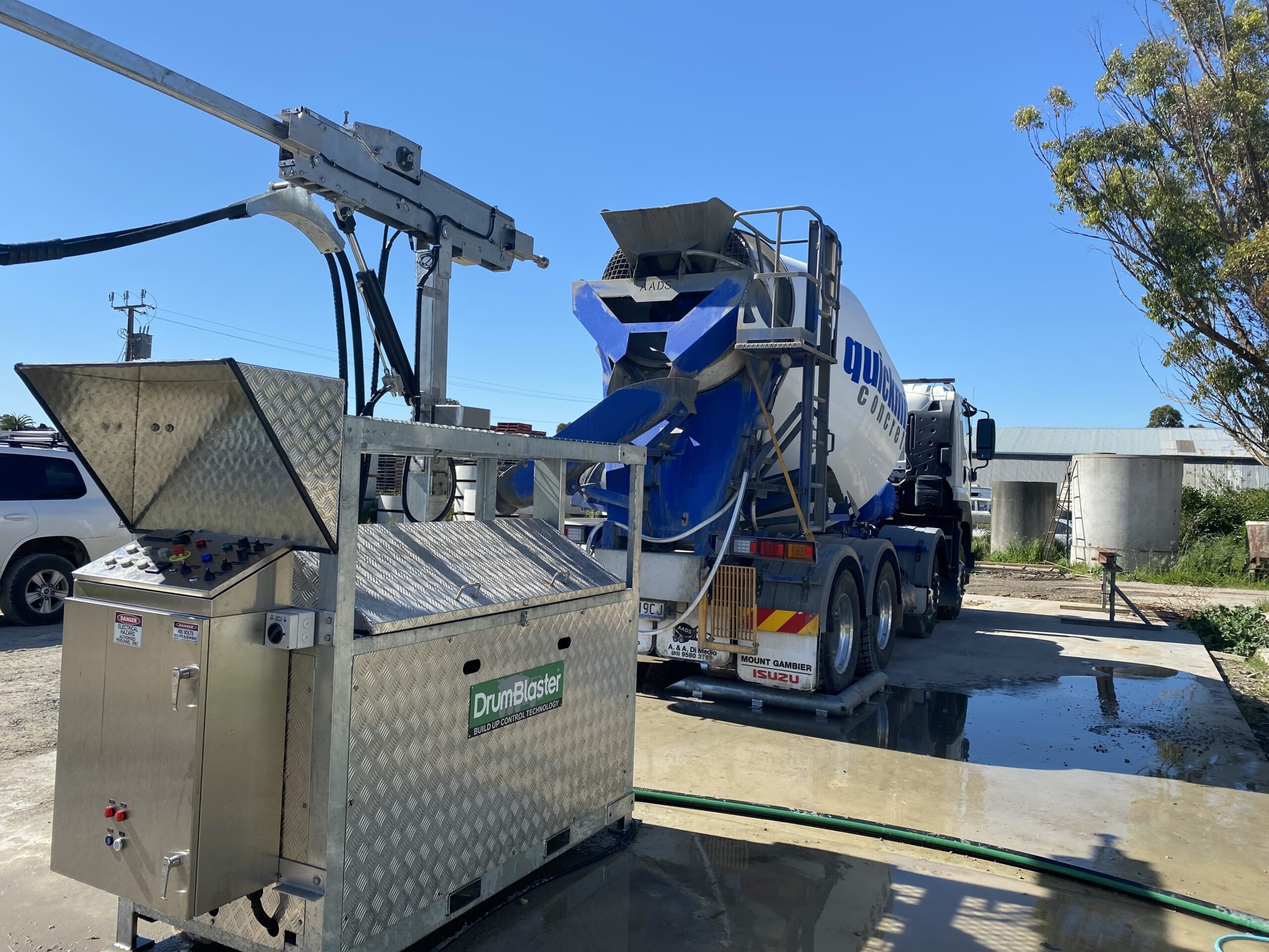 Drumblaster Cement Truck Cleaning System